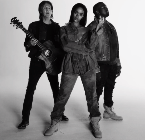Rihanna Debuts New Music Video With Kanye and Paul McCartney