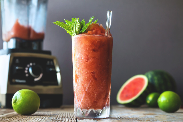 Summer Watermelon Balsamic Slushies